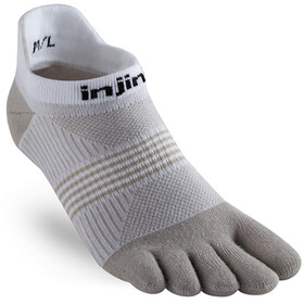 Injinji Run Coolmax Xtra Lightweight No Show Socks Women White/Sand